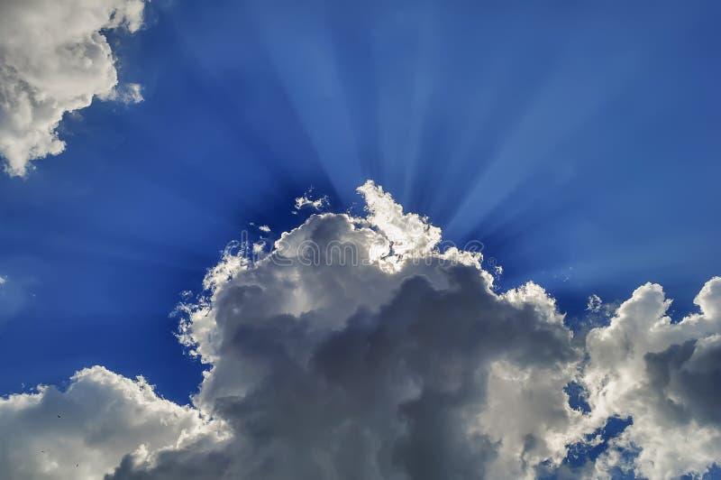 De stralen van de zon royalty-vrije stock fotografie