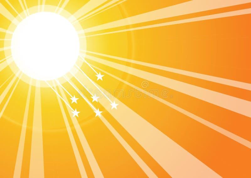 De stralen van de zon
