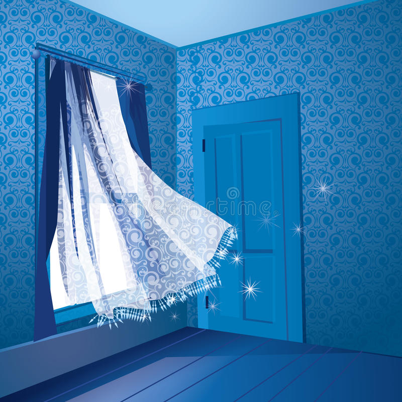 De stralen werpen het venster royalty-vrije illustratie