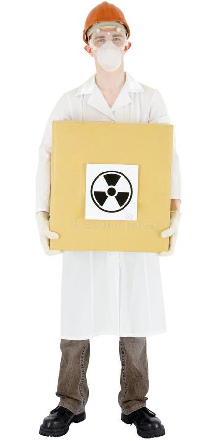 De straling van de wetenschapper en van het teken royalty-vrije stock afbeeldingen