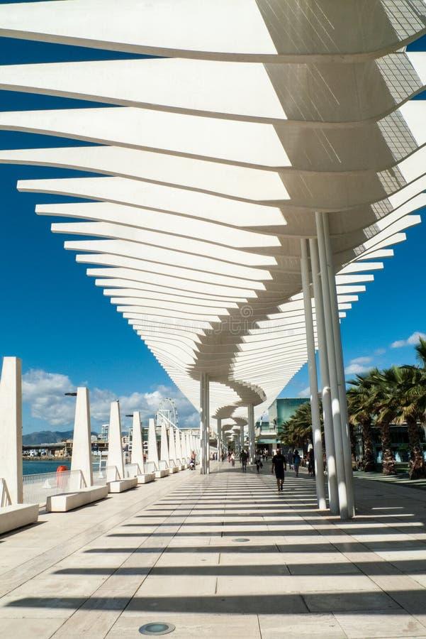 De strandboulevardpromenade van Malaga, Spanje royalty-vrije stock fotografie