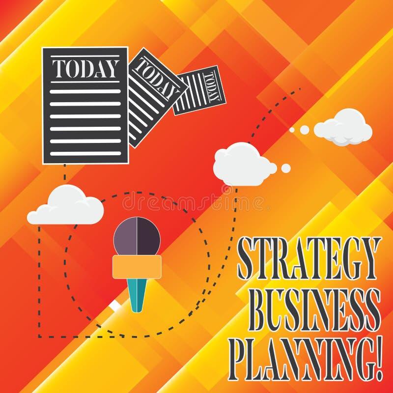 De Strategie van de bedrijfs handschrifttekst Planning De conceptenbetekenis schetst een organisatie s algemene richtingsinformat vector illustratie