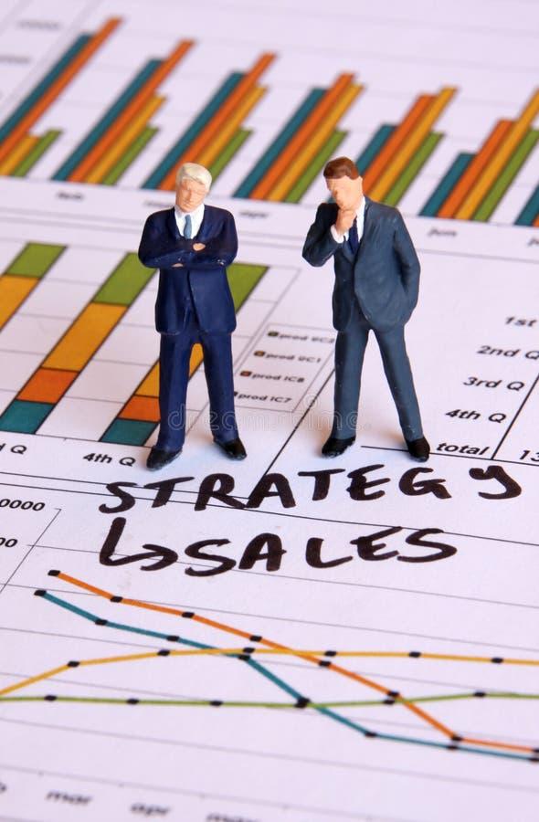 De strategie van de verkoop stock fotografie