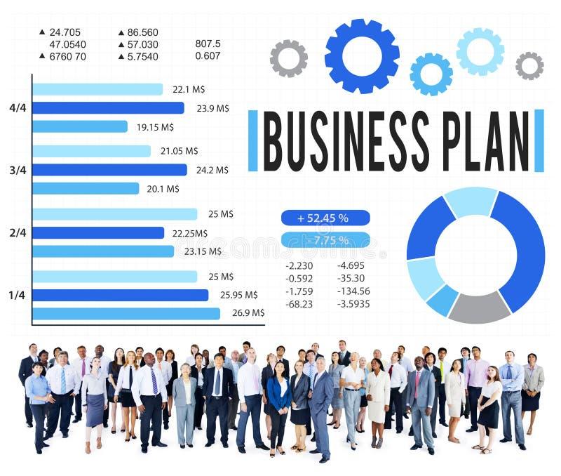 De Strategie van het Businessplan het Concept van de Planningsvisie stock afbeelding
