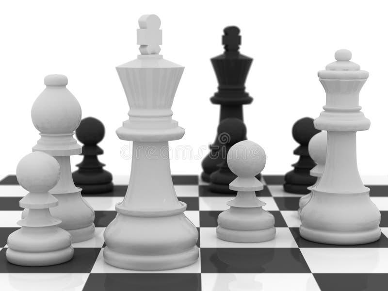 De Strategie van het schaak stock illustratie