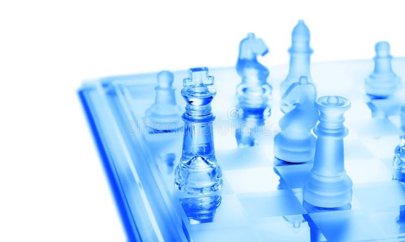 De Strategie van het schaak stock foto