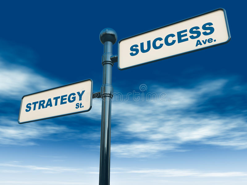 De strategie van het succes stock illustratie