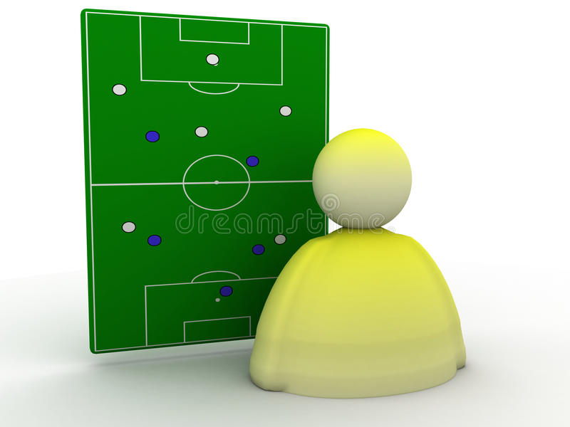 De strategie van het voetbal royalty-vrije illustratie