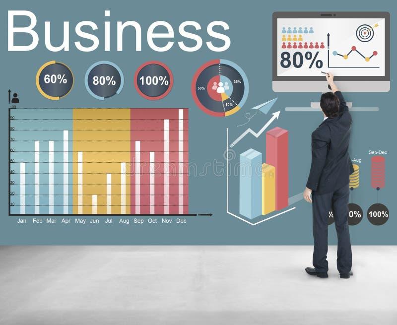 De Strategieconcept Analytics van Bedrijfsstatistiekengegevens stock afbeeldingen
