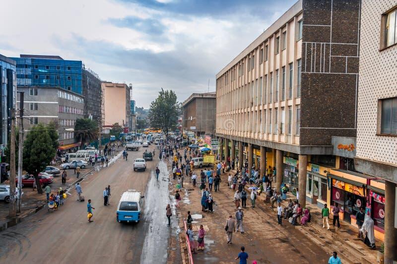 In de straten van Addis Ababa stock fotografie