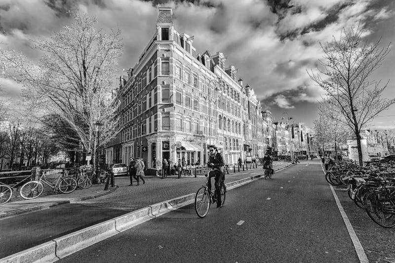 De straten van Amsterdam stock foto's