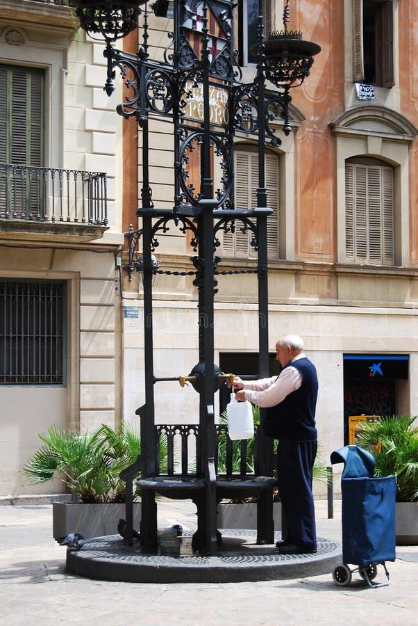 De straten van Barcelona royalty-vrije stock foto