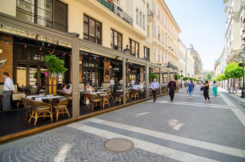 De straten van Boedapest royalty-vrije stock foto