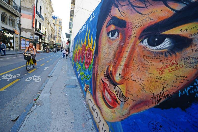 In de straten van Buenos aires royalty-vrije stock foto