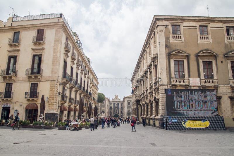 De straten van Catanië, Sicilië royalty-vrije stock foto's