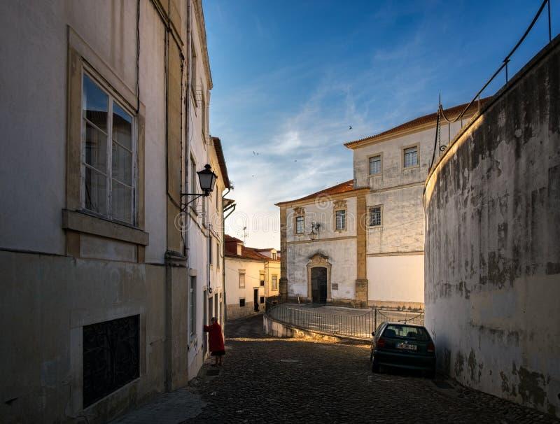 De straten van Coimbra portugal royalty-vrije stock afbeeldingen
