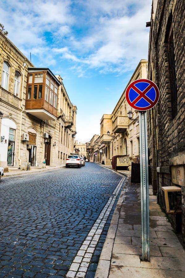 De straten van de oude stad - Icheri Sheher stock foto's