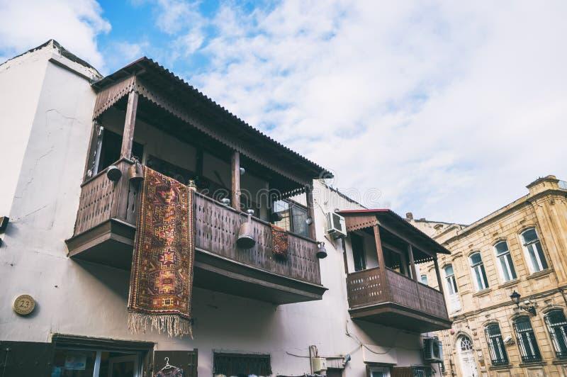 De straten van de oude stad - Icheri Sheher royalty-vrije stock afbeelding