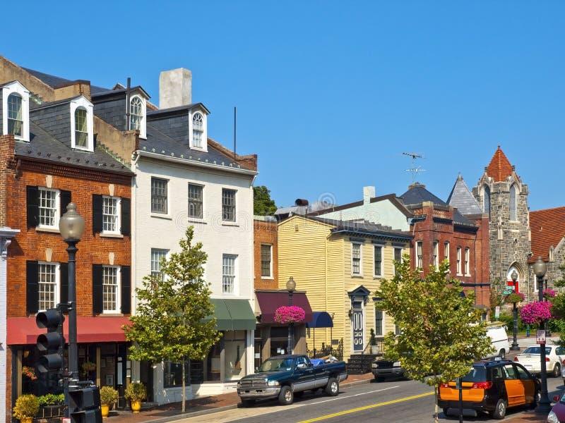 De Straten van Georgetown, Washington DC stock foto's