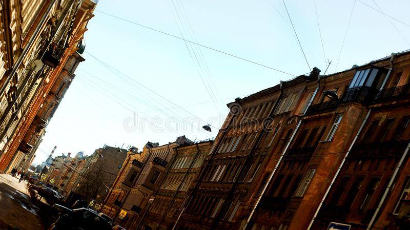 De straten van heilige Petersburg stock foto's