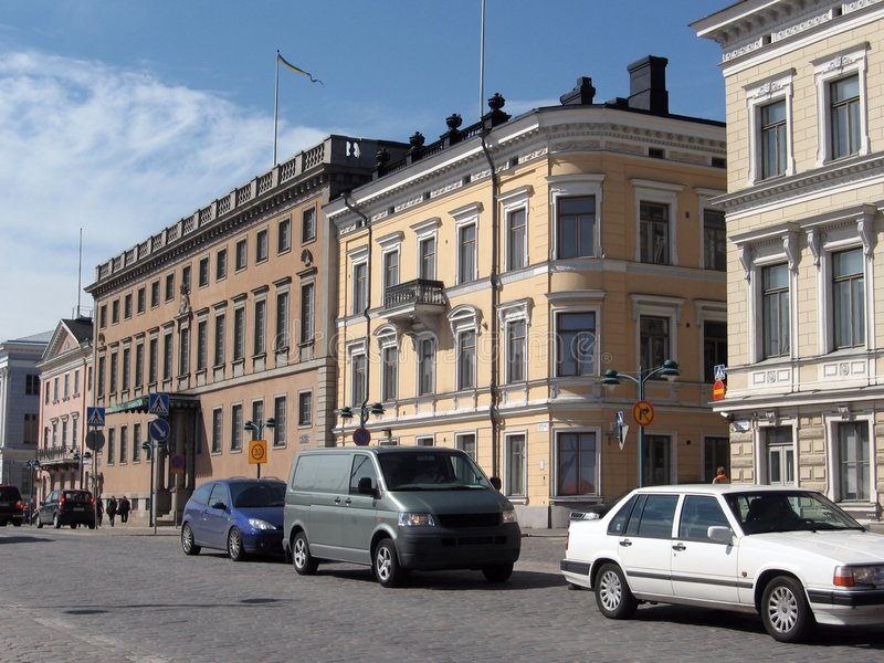 De straten van Helsinki royalty-vrije stock afbeeldingen