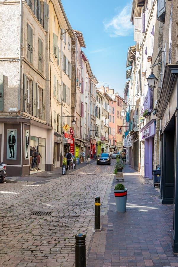 In de straten van Le Puy Engelse Velay - Frankrijk royalty-vrije stock afbeeldingen