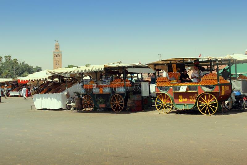 De straten van Marrakech stock afbeeldingen