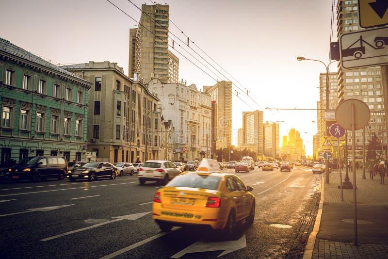 De straten van Moskou stock fotografie