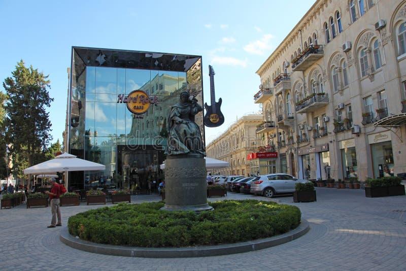 De straten van Oude stad, Icheri Sheher is de historische kern van Baku, Azerbeidzjan stock fotografie