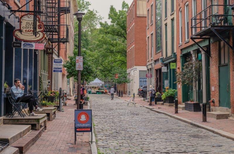 De straten van Philadelphia royalty-vrije stock afbeelding