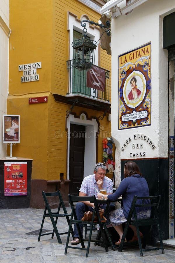 In de straten van Sevilla stock afbeelding