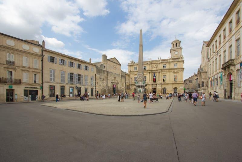 De straten van de stad van Arles royalty-vrije stock foto's