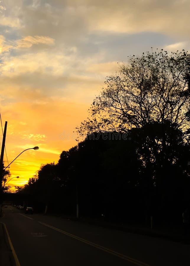De straten van de stad van Volta Redonda stock afbeeldingen