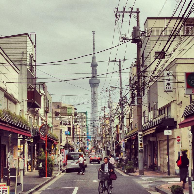 De straten van Tokyo royalty-vrije stock afbeeldingen