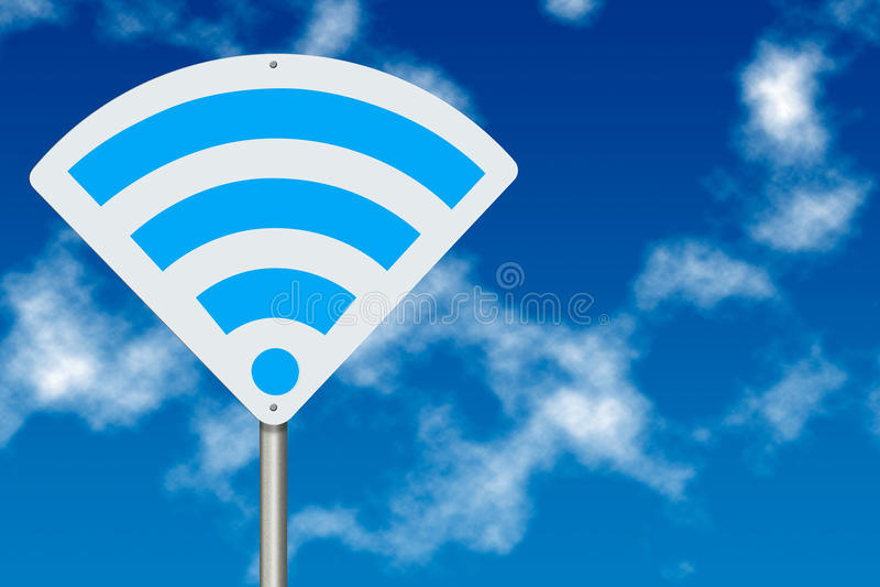 De streekconcept van WiFi stock afbeeldingen