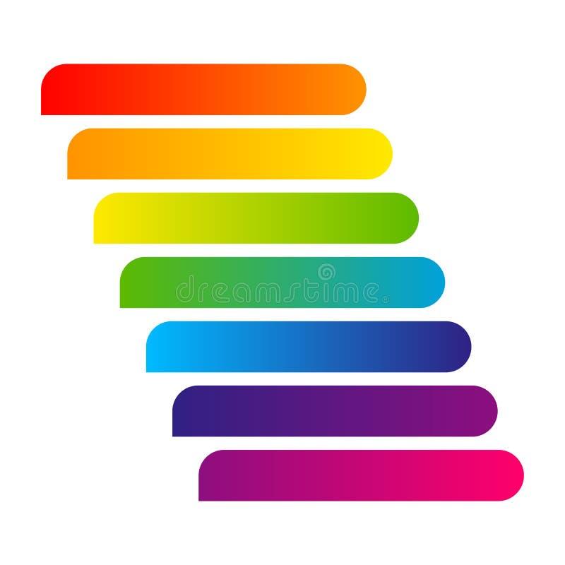 De streep van de bannerlijn van kleurrijk het Ontwerpelement van de gradiënt Modern sticker voor infographics Heldere het adreska stock illustratie