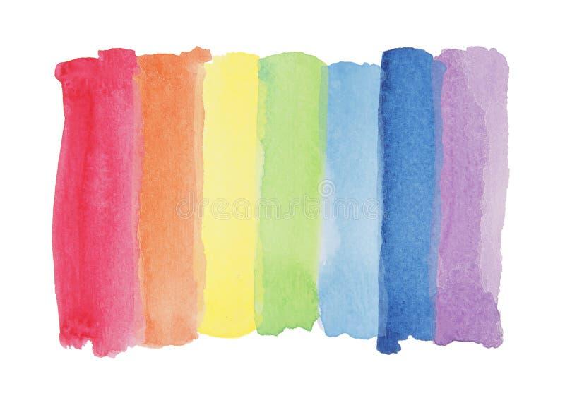 De streep van de de waterverfverf van de regenboog stock foto