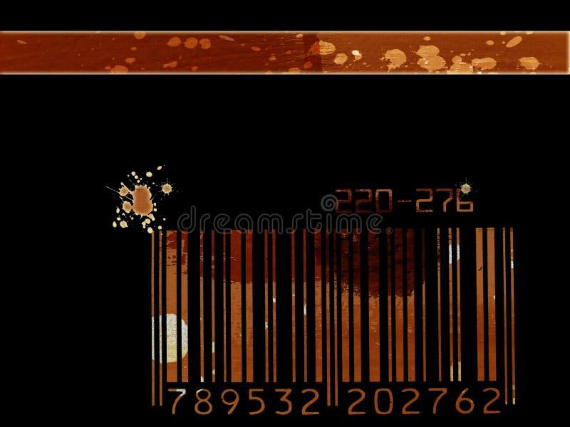 De streepjescodeachtergrond van Grunge stock illustratie