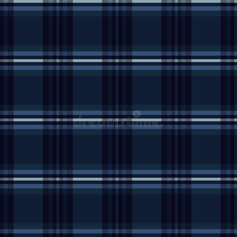 De Strepen Naadloos Vectorpatroon van het indigo Blauw Geruite Schots wollen stof Geruit Geweven royalty-vrije illustratie