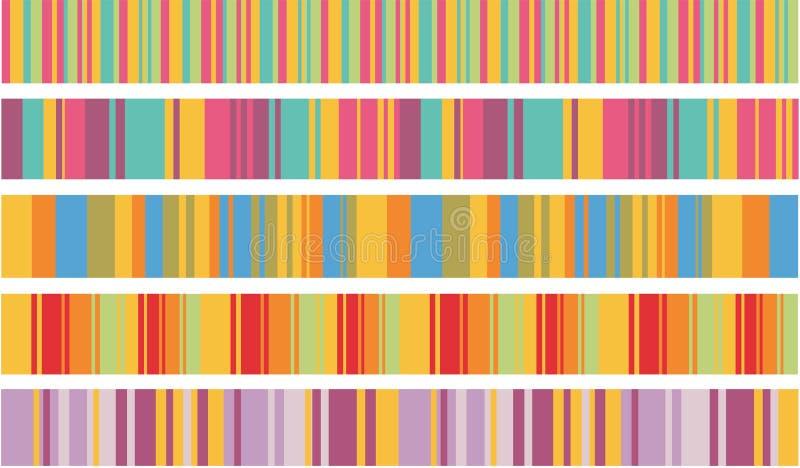De strepen van de kleur vector illustratie