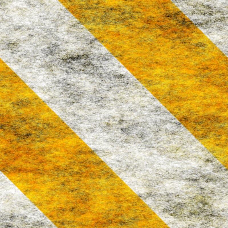 De Strepen van het Gevaar van Yellow&White van de waarschuwing stock afbeeldingen