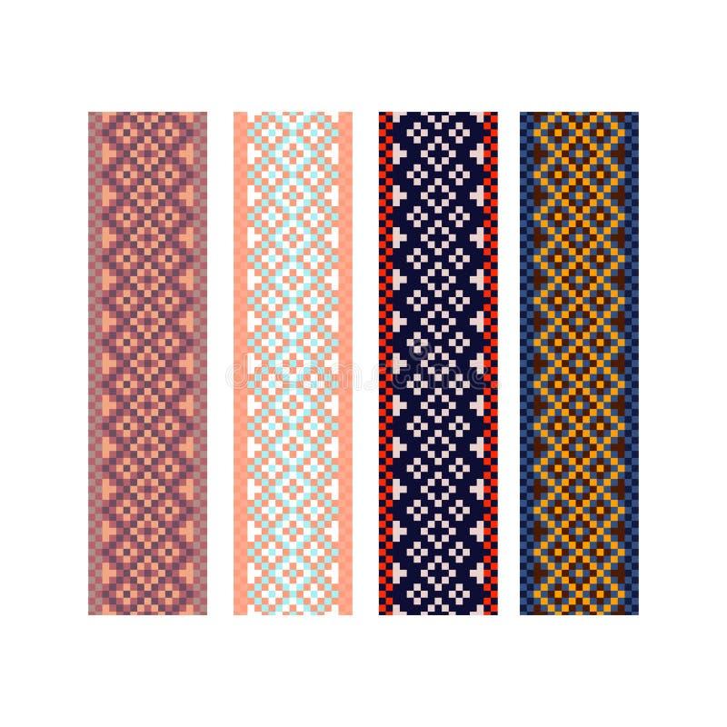 De strepen van het het patroonontwerp van de Beadworkgrens royalty-vrije illustratie