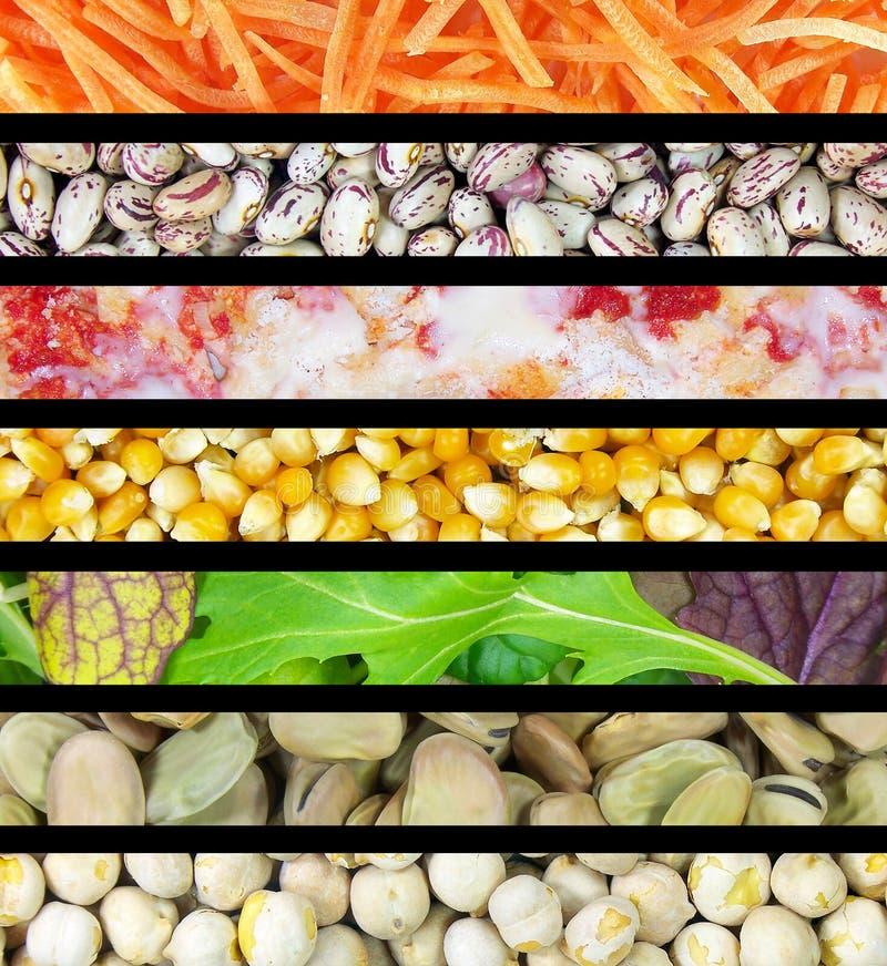 De Strepen van het voedsel royalty-vrije stock foto