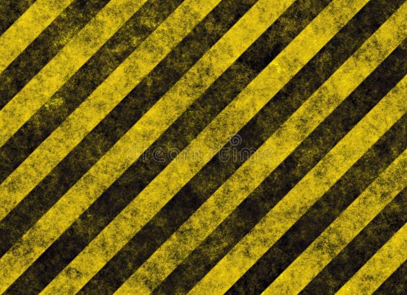 De strepenteken van het gevaar of van de waarschuwing royalty-vrije illustratie