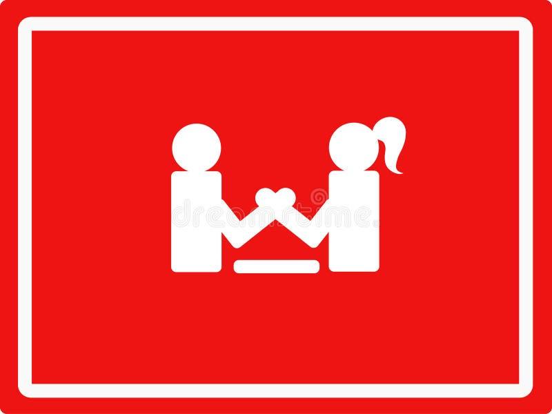 De strijd tussen de mens en vrouw royalty-vrije illustratie