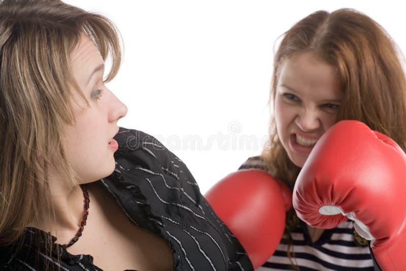 De strijd van de vrouw stock foto