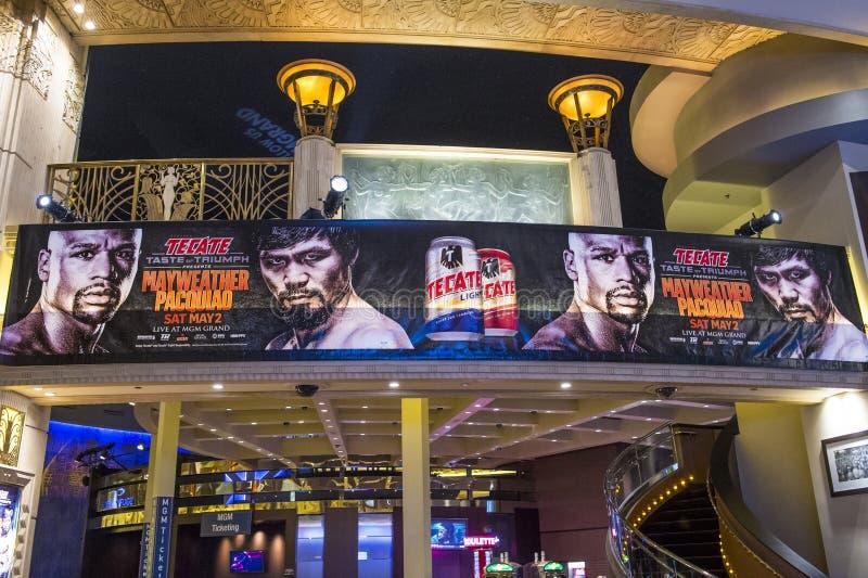 De strijd van Floyd Mayweather en Manny Pacquiao- royalty-vrije stock afbeelding