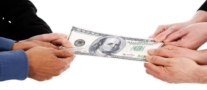 De strijd van het geld stock afbeeldingen