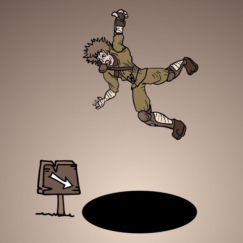 De strijder trekt stock illustratie
