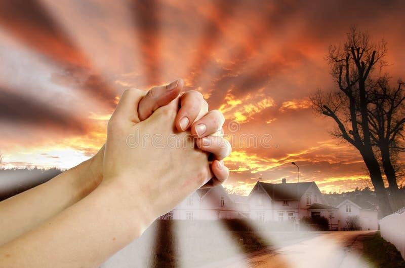 De Strijder van het gebed stock foto's